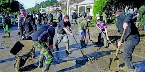 Beneficiaries Flood Cleanup