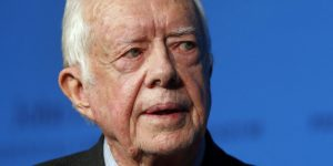 "Former President Jimmy Carter speaks during a forum at the John F. Kennedy Presidential Library and Museum in Boston, Thursday, Nov. 20, 2014. Among other topics, Carter discussed his new book, ""A Call to Action: Women, Religion, Violence, and Power."" (AP Photo/Elise Amendola)"
